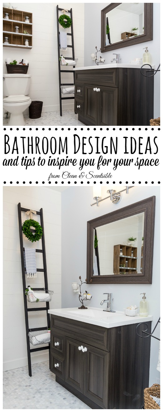 Beautiful bathroom makeover! // cleanandscentsible.com