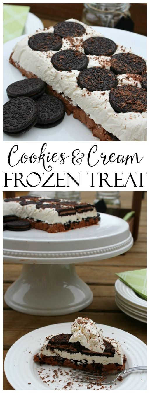 Oreo cookie frozen dessert recipe