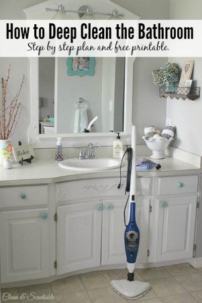 Deep clean the bathroom title for Bathroom cleaning ideas