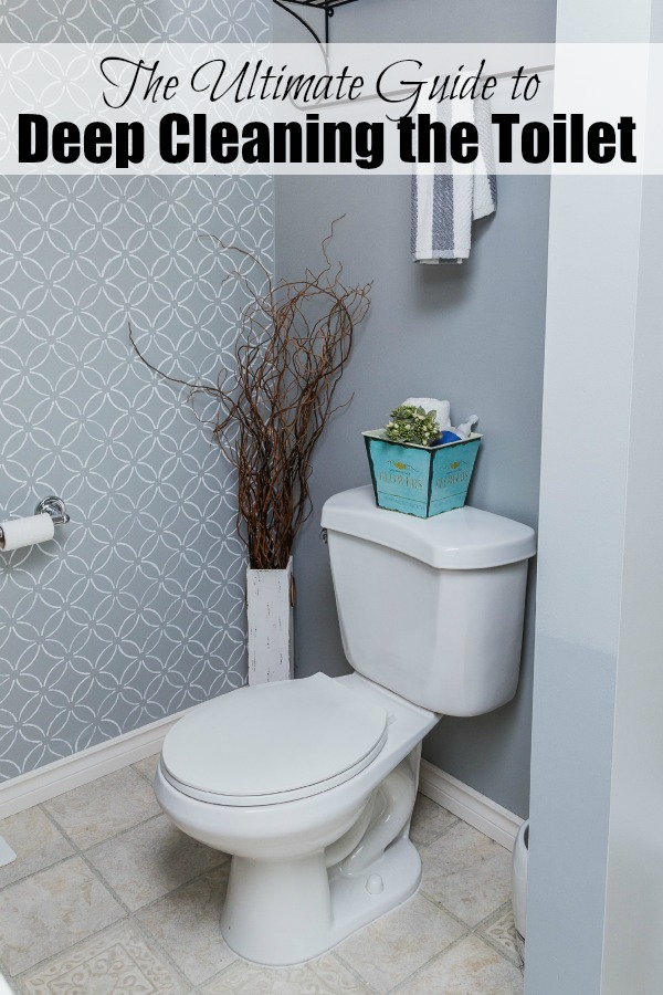 Awesome tips to REALLY get your toilet cleaned and disinfected!  // cleanandscentsible.com
