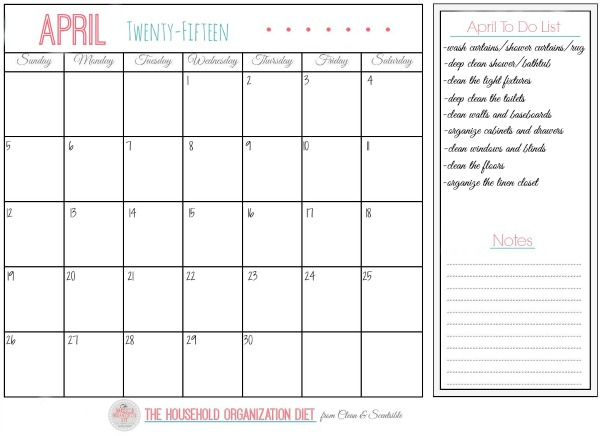 Perfect Printable checklist to get those bathrooms cleaned and organized cleanandscentsible