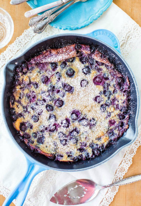 Blueberry Dutch Pancake s and lots more delicious breakfast ideas.  Perfect for Mother's Day!