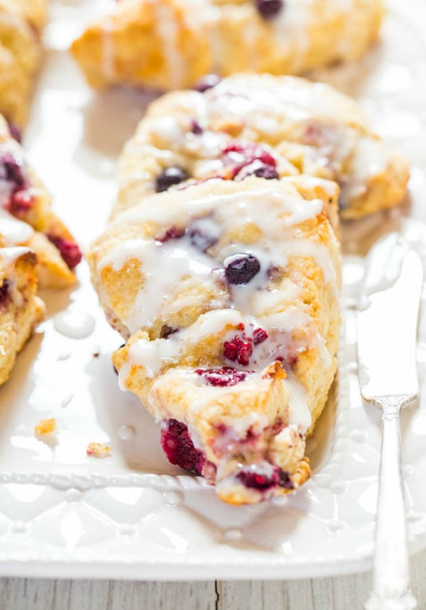 Glazed mixed berry scones and lots of other yummy breakfast ideas for Mother's Day.