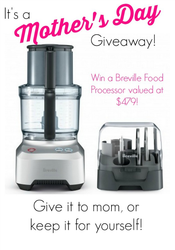 Enter to win this amazing Breville food processor!