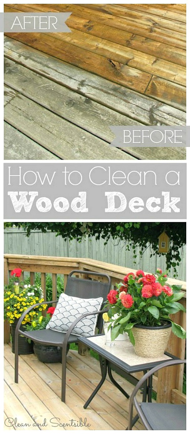 Bring your wood deck back to life with this easy to follow tutorial!