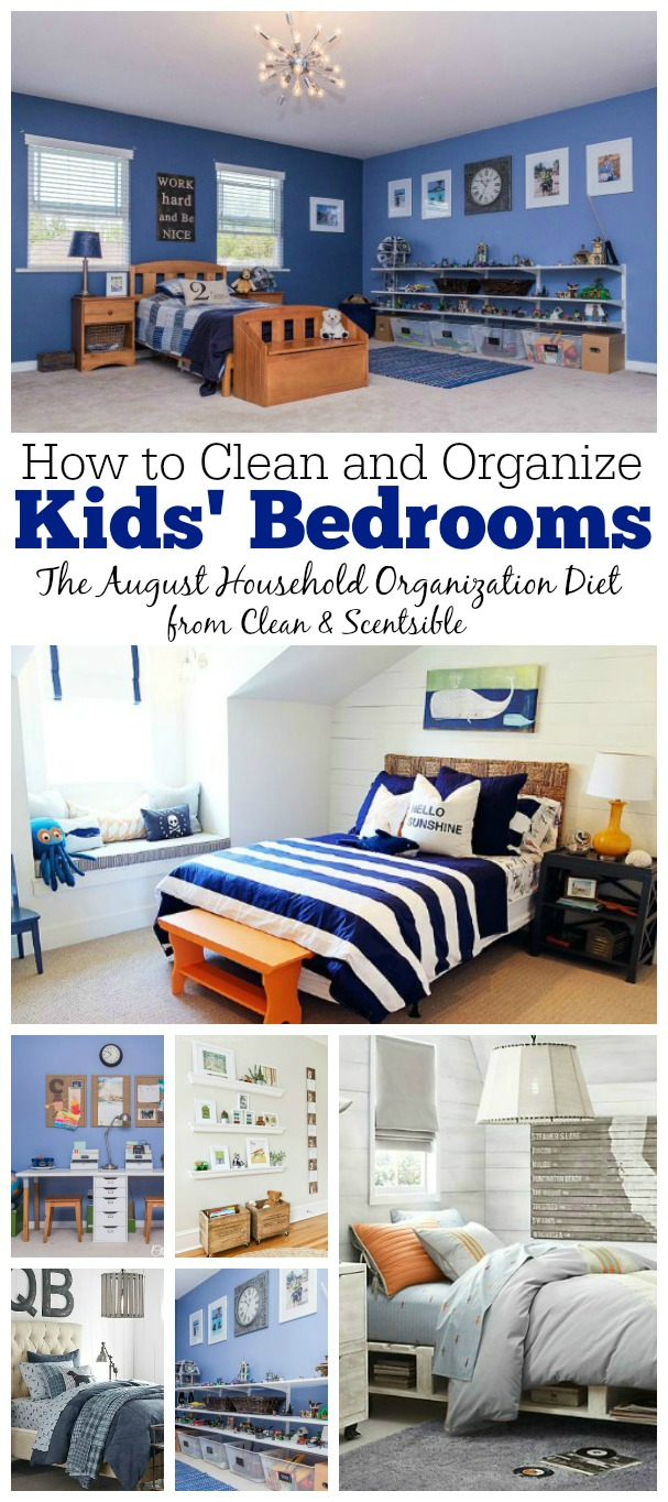 Great ideas to clean and organize those kids' bedrooms once and for all!