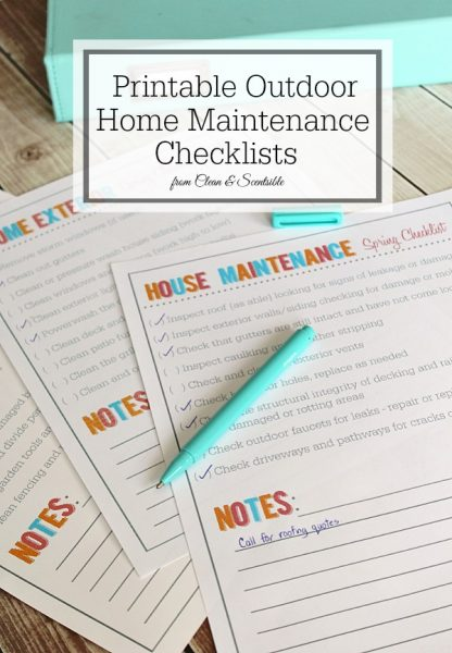outdoor home and garden maintenance checklists