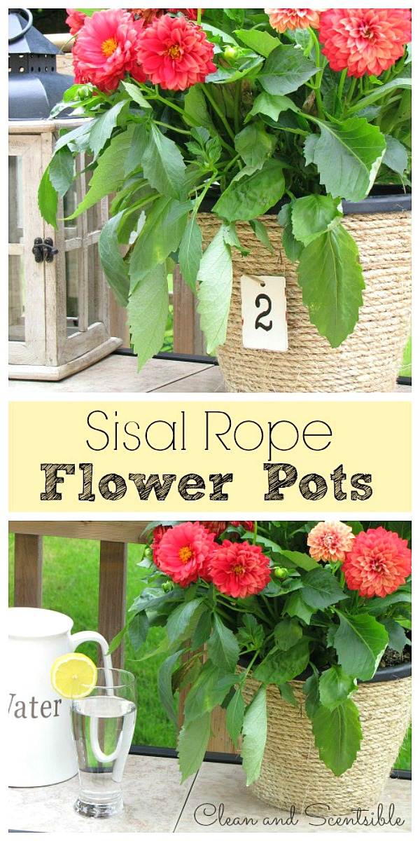 Such a quick and easy way to transform those standard, ugly flower pots!
