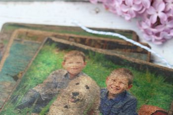 DIY Vintage Wood Photo Transfer Coasters