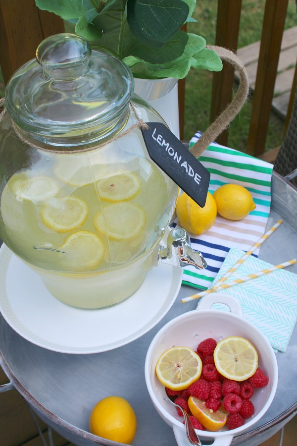 Simple homemade lemonade recipe with fresh flavored syrups.