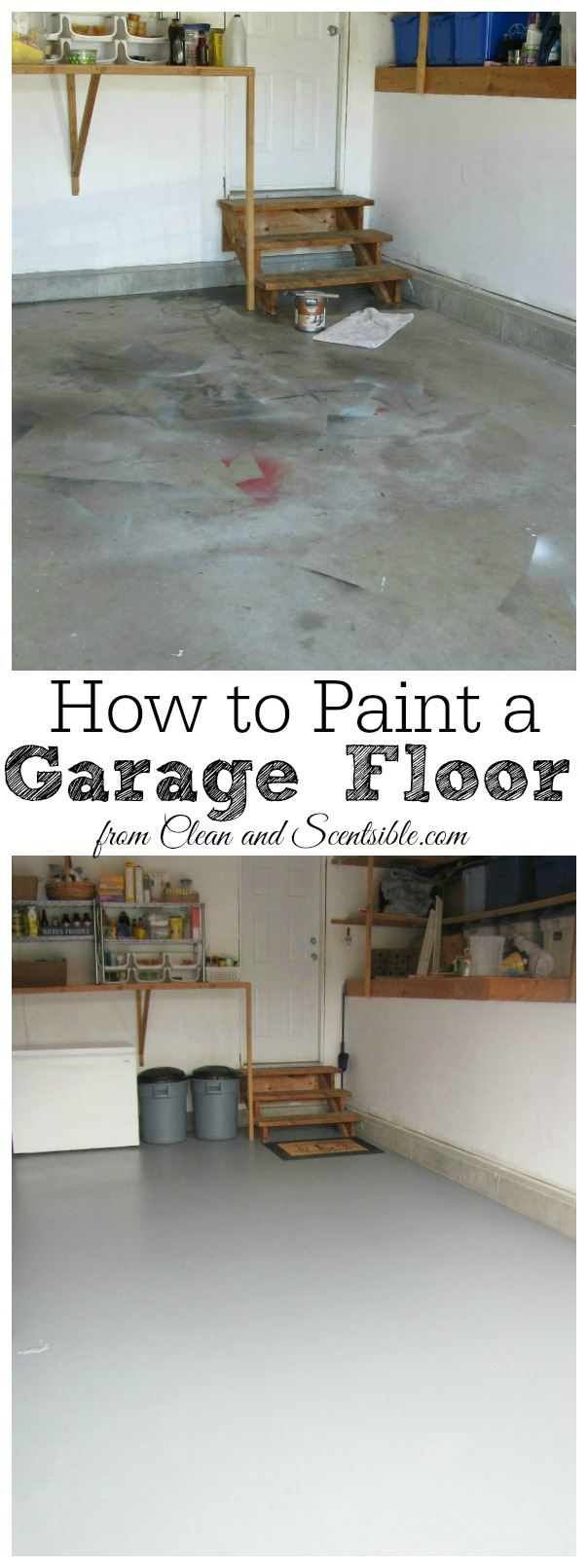 How to organize the garage clean and scentsible for How to clean garage floor
