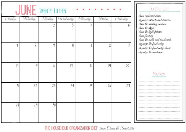 Everything you need to do to clean and organize the laundry room!  June tasks for The Household Organization Diet. // cleanandscentsible.com