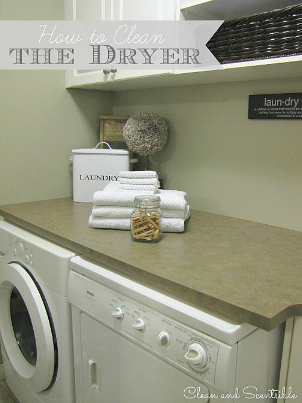 These tips on cleaning your dryer will help improve efficiency and even more importantly can save you from a house fire!