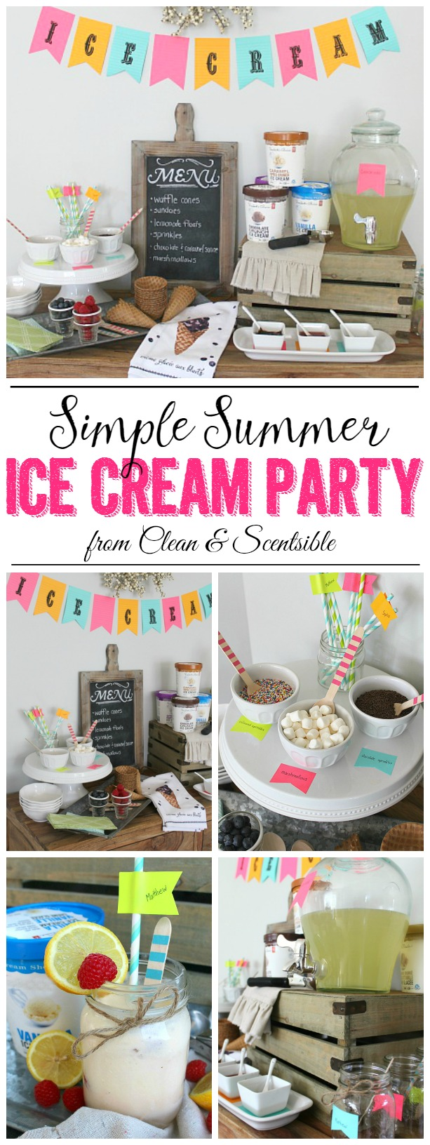 Fun ideas for a simple summer ice cream party!