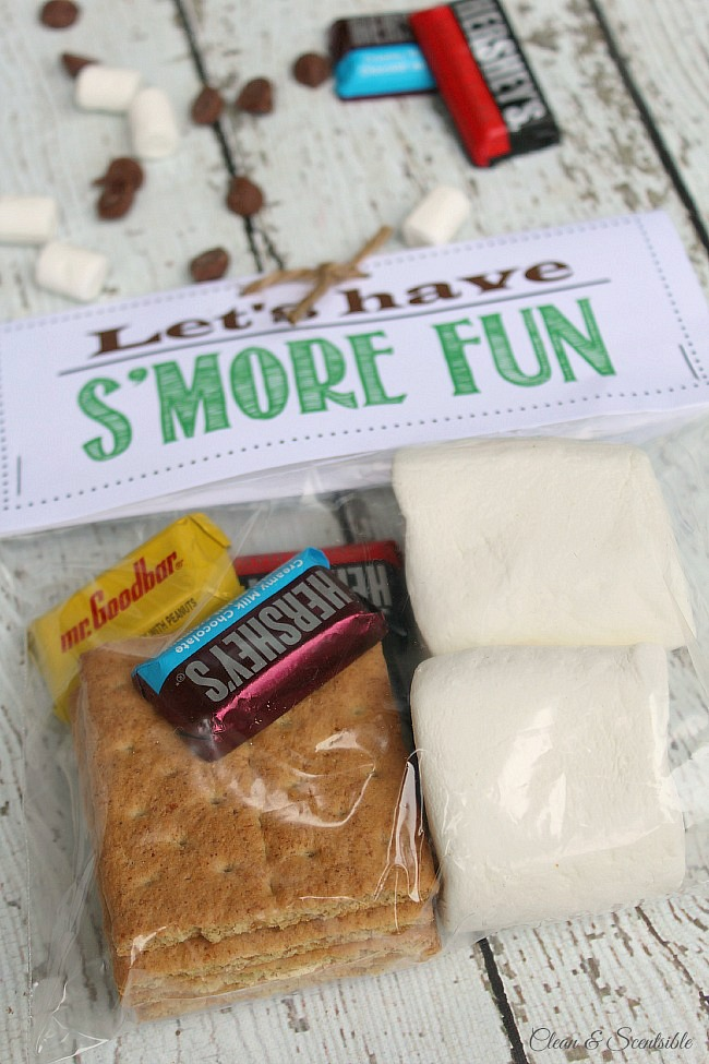 Chasse au trésor en plein air amusante et garnitures de friandises s'mores avec des imprimés gratuits inclus ! Ce serait amusant pour une fête en plein air ou un voyage de camping.'mores treat toppers with free printables included! This would be fun for an outdoor party or camping trip.