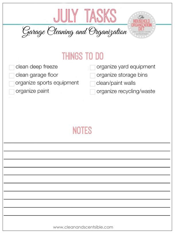 La liste des tâches à faire par l'organisation des ménages en juillet - Tout ce dont vous avez besoin pour organiser votre garage!