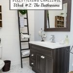How to declutter your bathroom. Tips, ideas, and a free printable to get you started!