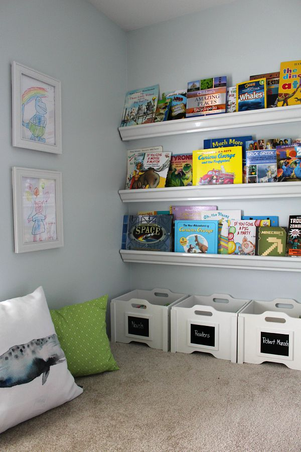 encourage your kids to read with a comfy space and