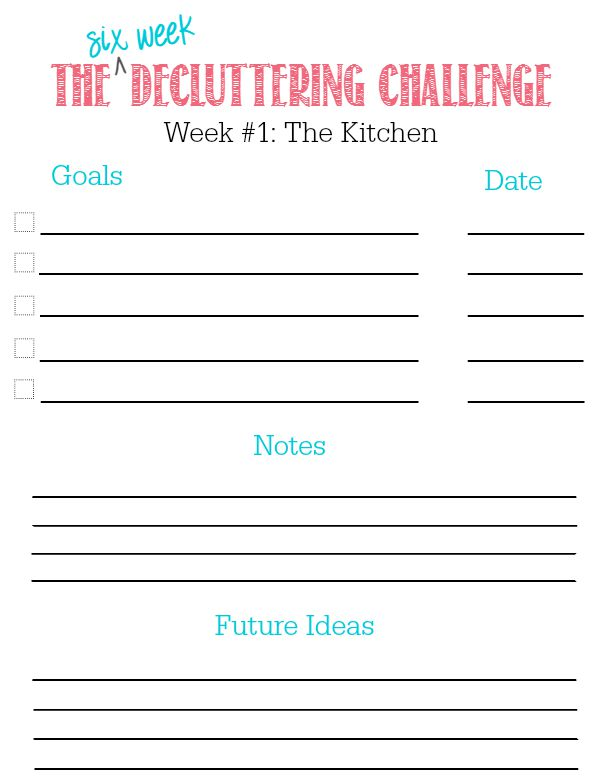Join in The 6 Week Decluttering Challenge to create a peaceful, clutter-free home that you can truly relax in! Customize your own plan with free printables. You can do it!