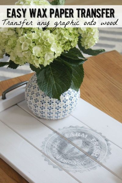 How to Transfer Images Using Wax Paper