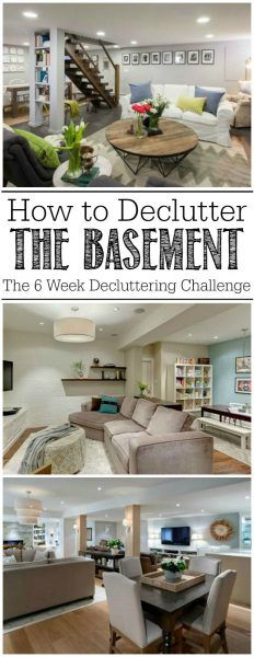 how to declutter the basement clean scentsible