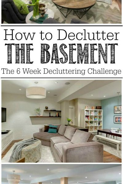Ideas for decluttering the basement.