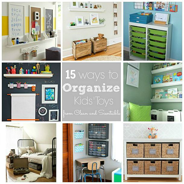 Great ideas on organizing kids toys and controlling the clutter!