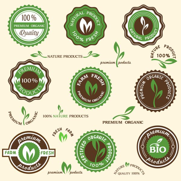 Cute organic food labels from Graphic Stock!