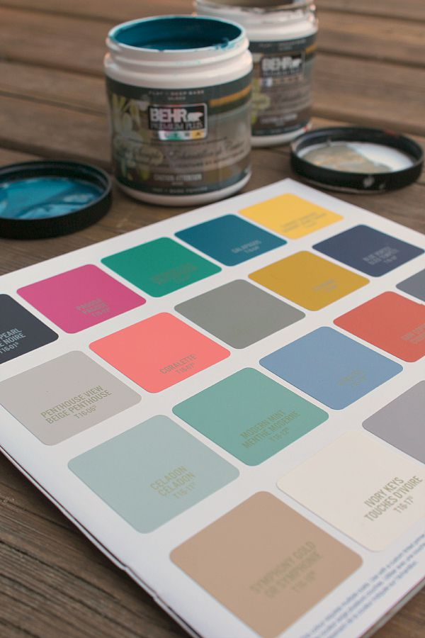 Love all of these colors from the BEHR 2016 Color Trends!