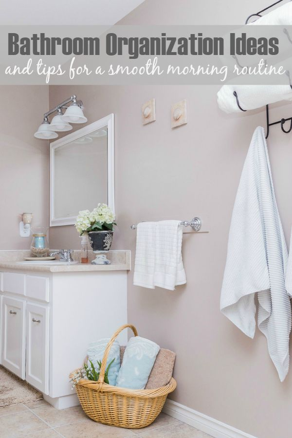 Practical bathroom organization ideas. Help your mornings run smoother!