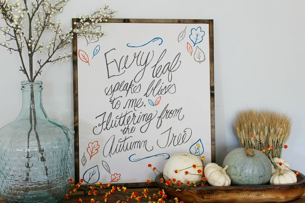Rustic fall sign tutorial. I love this quote!