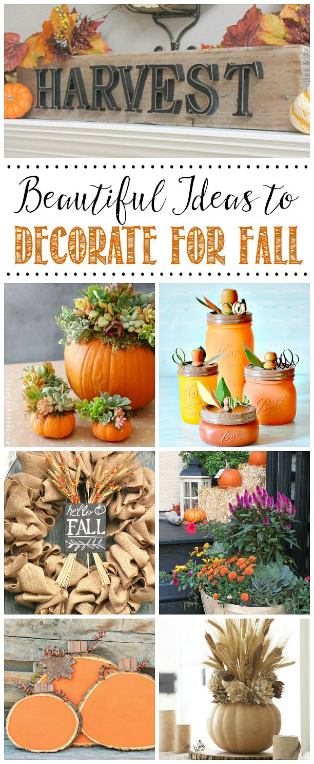 Beautiful fall projects and fall decor ideas to help inspire you for the season!  Simple projects that anyone can do!