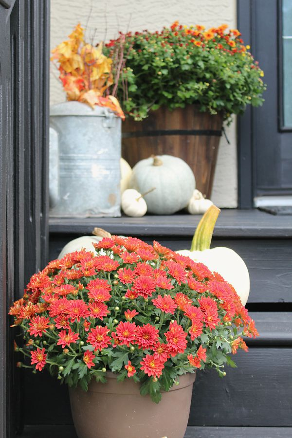 Beautiful fall front porch and home tour.  Tons of fall inspiration.