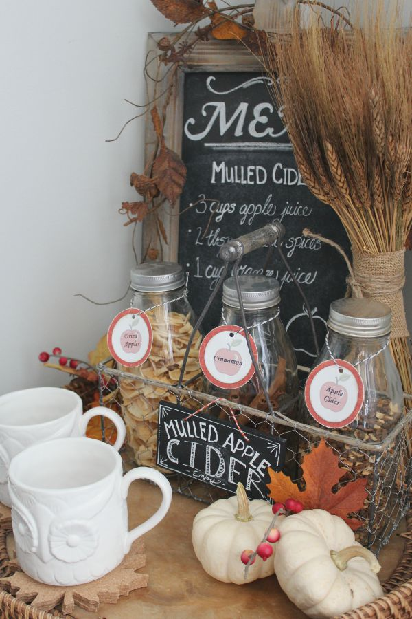 Fall Beverage Bar and home tour. Tons of fall inspiration!