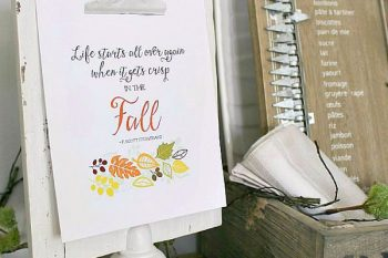 Fall Printables and Vignettes