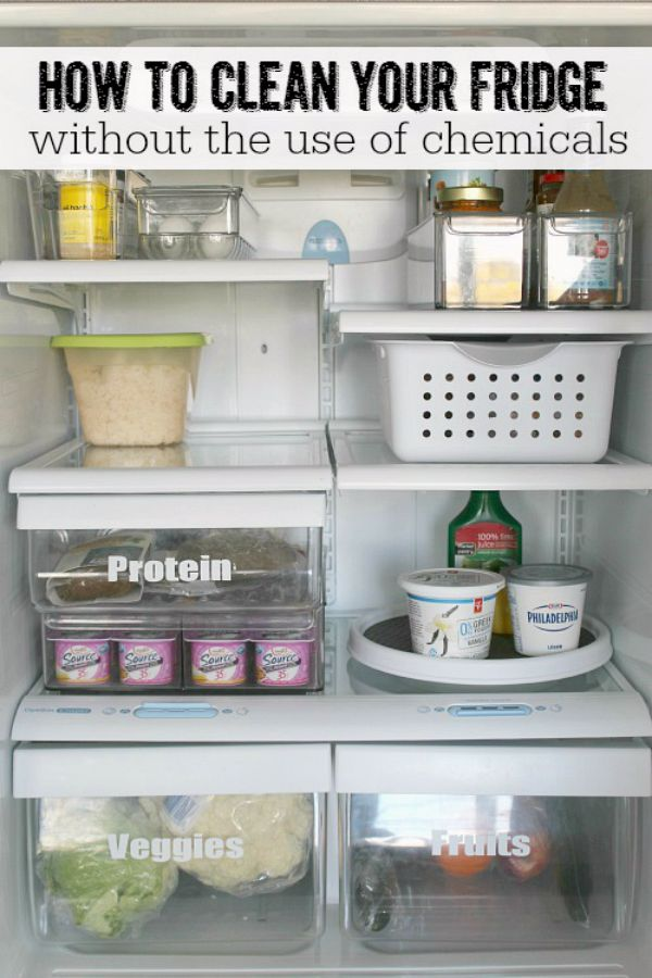 Clean your fridge from top to bottom without the use of any harsh chemicals.