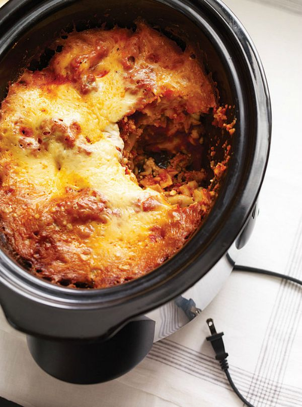 Slow Cooker Lasagna from Ricardo Cuisine.