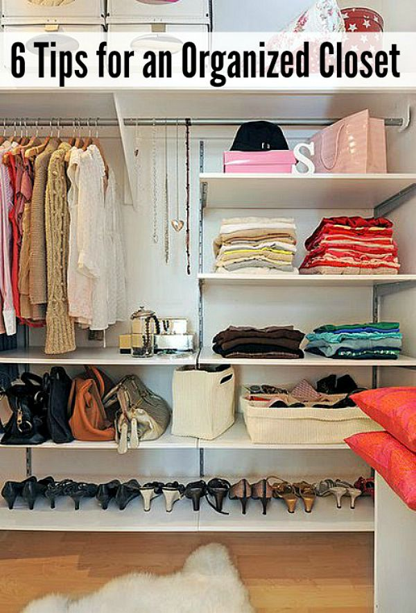 Great tips to get those closets organized!