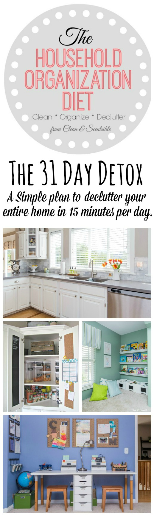Follow this simple 31 day plan to jumpstart your decluttering process!