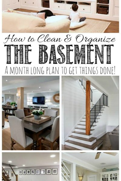 How to Clean and Organize the Basement