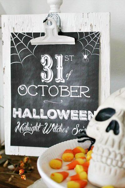 Free Chalkboard Halloween Printables