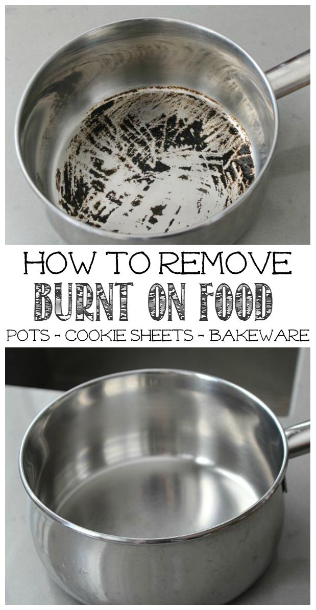how to remove burnt food from pots clean and scentsible. Black Bedroom Furniture Sets. Home Design Ideas