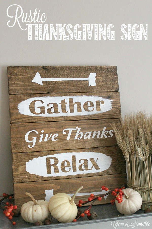 Easy tutorial for this DIY Rustic Thanksgiving Sign.