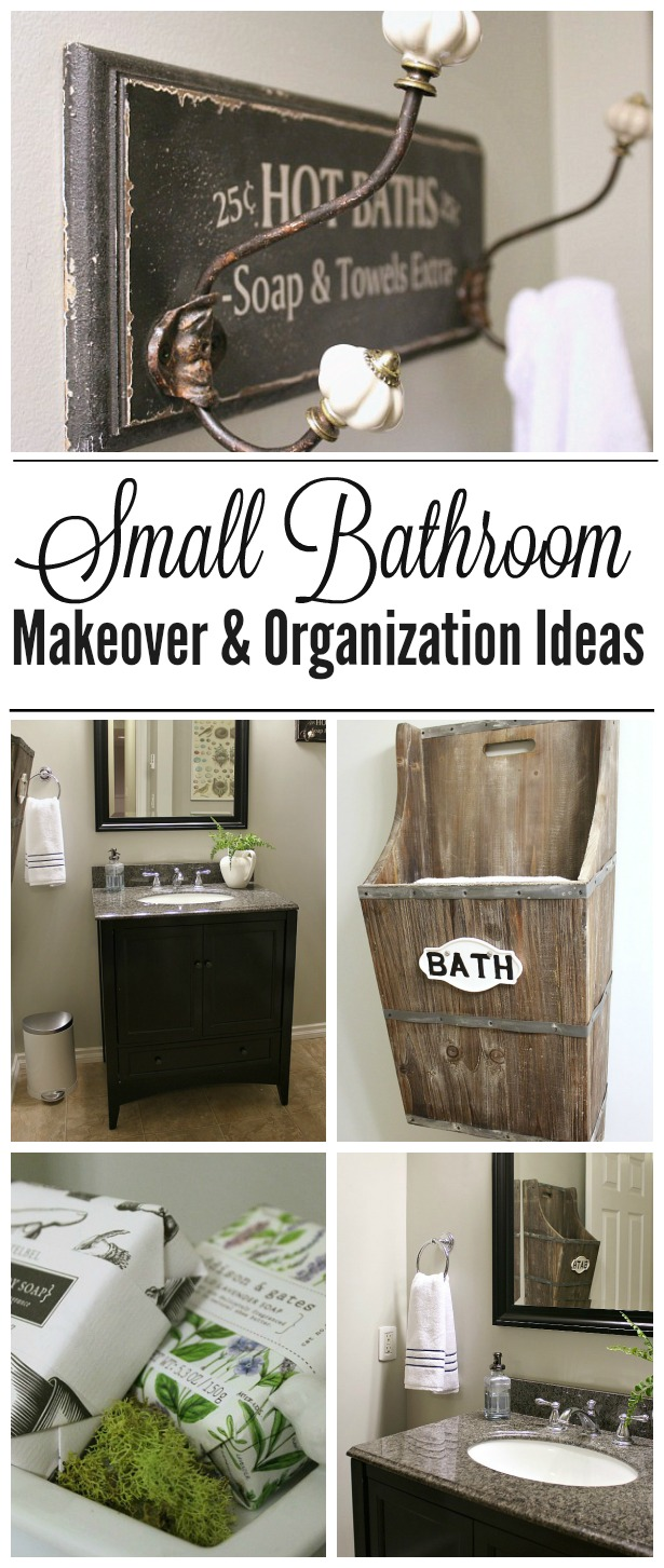 Small bathroom makeover and organization ideas clean and Cheap and easy organizing ideas