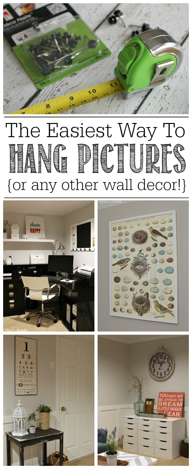 the easiest way to hang pictures or anything else clean and scentsible. Black Bedroom Furniture Sets. Home Design Ideas