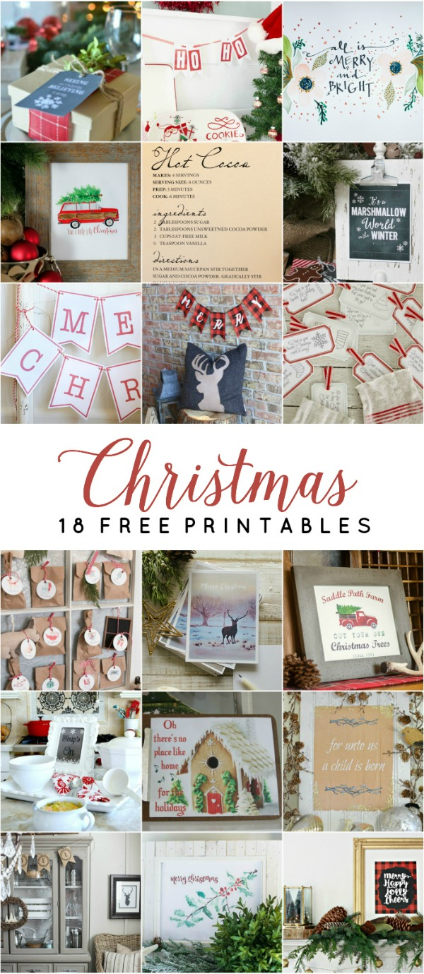 Love these gorgeous free Christmas printables!