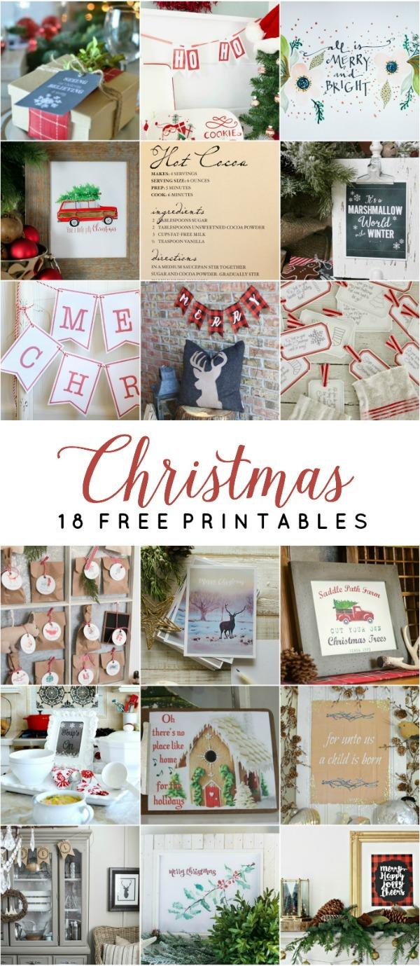 Love these gorgeous free Christmas printables!