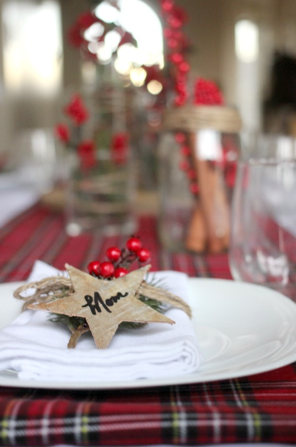 Birch Bark Holiday Place Settings