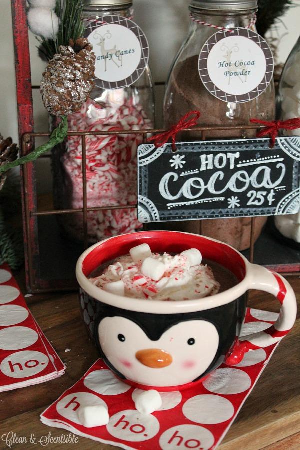 Yummy candy cane hot chocolate recipe. SO good!!