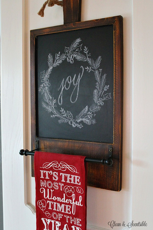 christmas chalkboard inspiration clean and scentsible. Black Bedroom Furniture Sets. Home Design Ideas